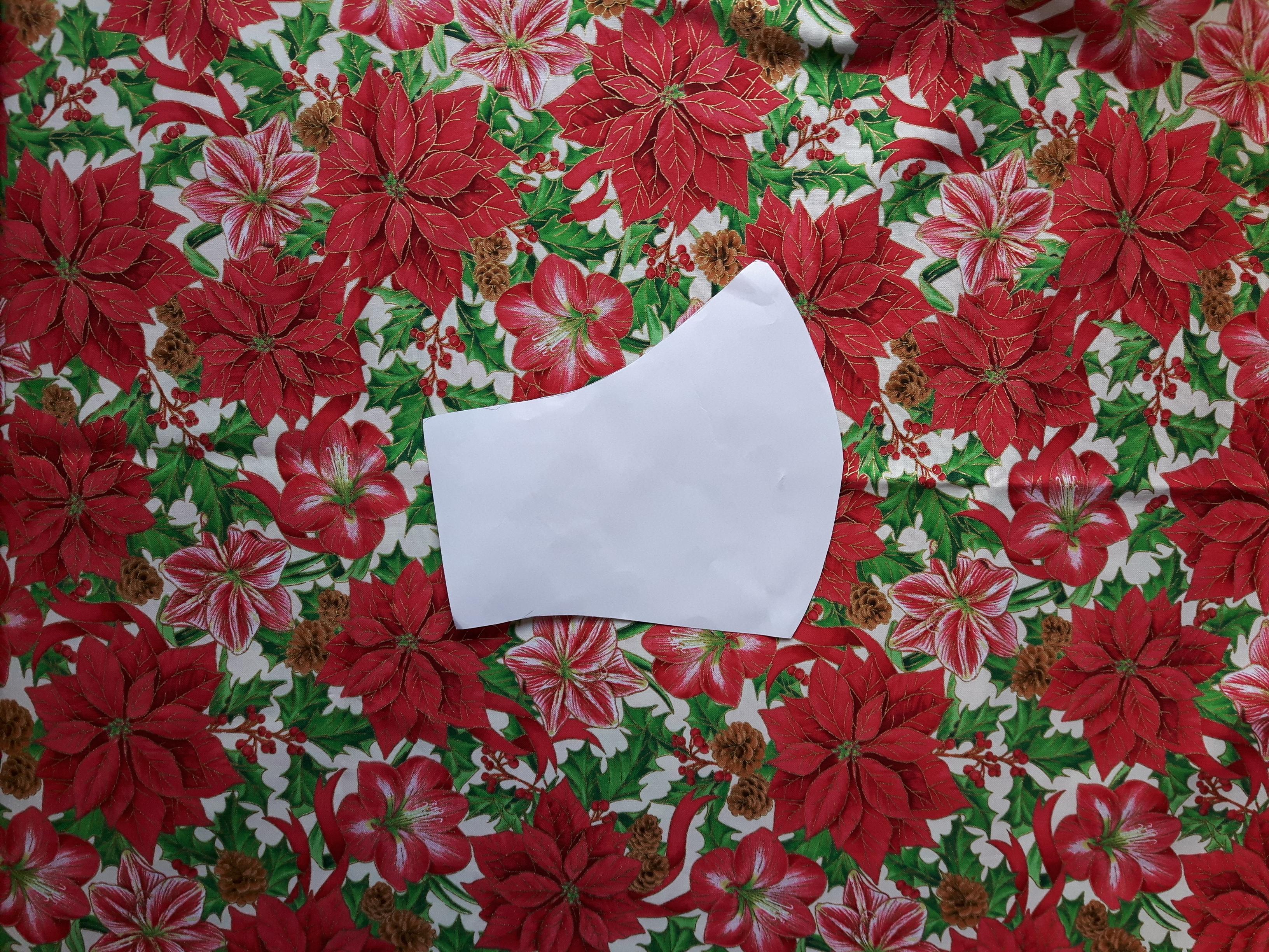 92-Rouška -vánoční hvězda-zlatotisk +gumička medical